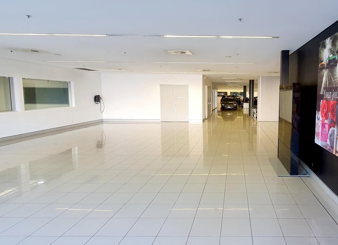 Anti-slip treatment for commercial showroom